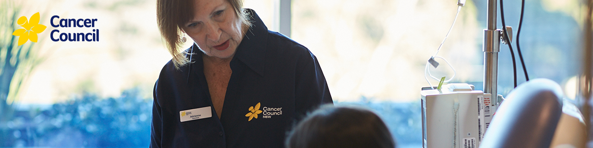 Cancer Council Representative supporting patient