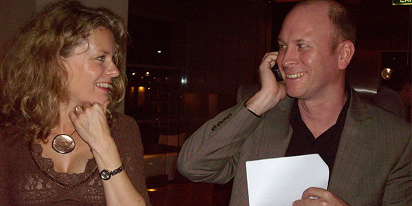 Wavelength Co-Founders Claire and John Smiling