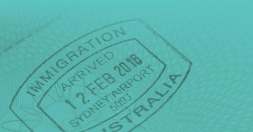 Australian Immigration Passport Stamp